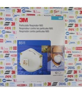 8511- Mascarilla desechable con filtro N95