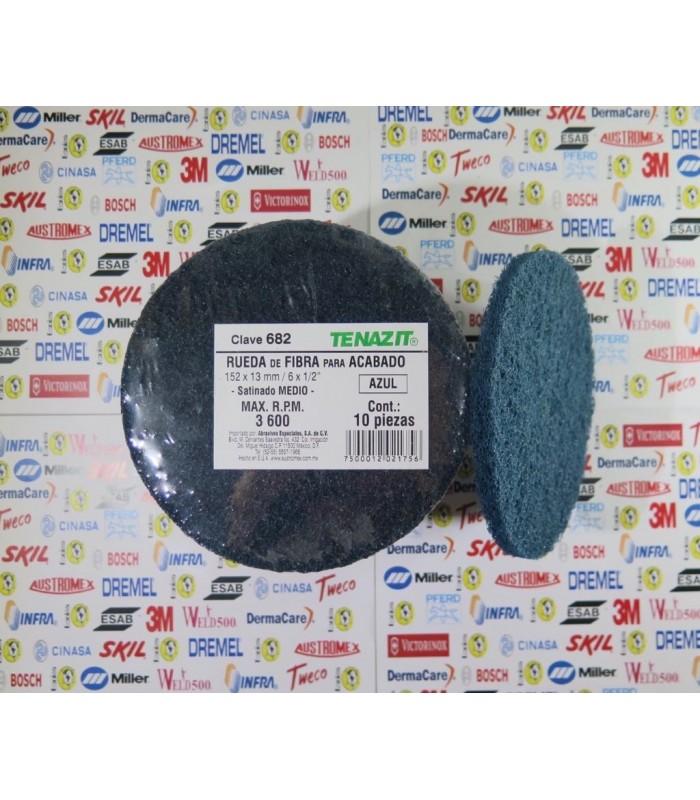 "682-Rueda de fibra azul G.Medio 6 X 1/2"""
