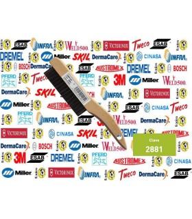 2881-Cepillo de alambre con mago de madera de soldador